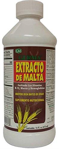 Extracto de Malta 16 oz. with B12 and Hemoglobina Germa