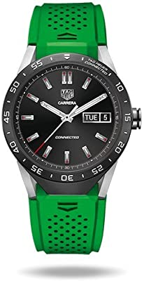 TAG Heuer CONNECTED Luxury Smart Watch (Compatible with Android/iPhone) (Green Strap)