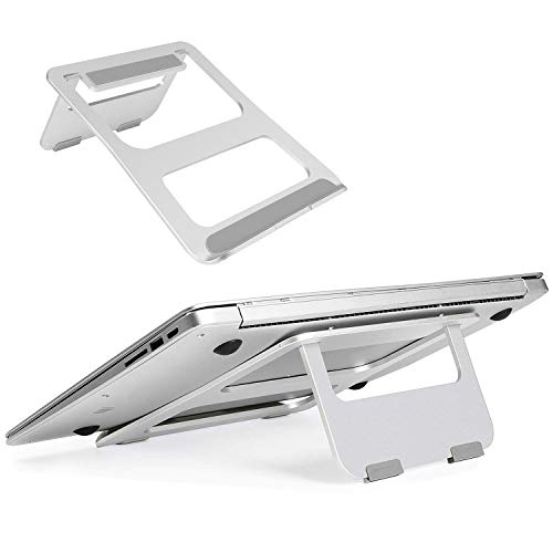 Laptop Stand Portable, CreaDream Adjustable Multi-Angle Aluminum Notebook Computer Stand, Fits MacBook and Laptops up to 17 inches, Silver by CreaDream