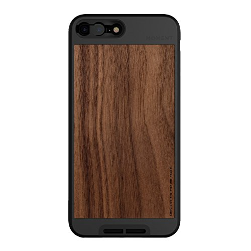 (iPhone 7 Plus/iPhone 8 Plus Case || Moment Photo Case in Walnut Wood - Thin, Protective, Wrist Strap Friendly case for Camera Lovers.)