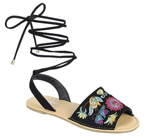 Bamboo Forever Dev15 Women's Pom-Pom Flip Flop Bohemia Thong Gili Tie Wrap Lollipop Colorful Flat Sandal Shoes... ()