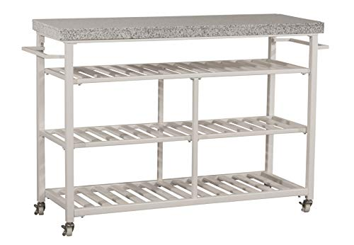 Hillsdale Furniture 4701-861G Kennon Kitchen Cart with Granite Top, White ()