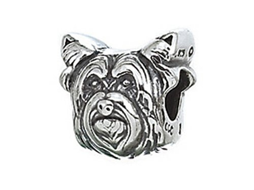 Dog Zable Bead - Zable Sterling Silver Dog Breed-yorkie Pandora Compatible Bead / Charm