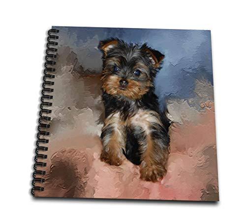 犬おもちゃYorkie–Toy Yorkie Puppy–Drawing Book 12 by 12-Inch db_3868_2