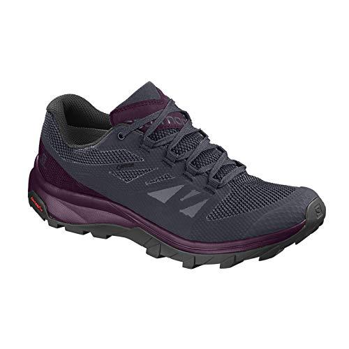W Purple Chaussures Randonnée Salomon Outline Graphite Gtx Femme Potent AEq8BOP8w