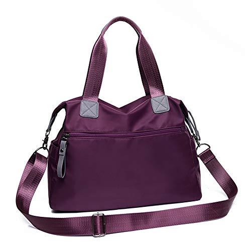 lona de bolso púrpura bolsa del coreana de Oxford del LANDONA hombro mamá de versión paño de nylon capacidad bolsa bolsa bolsa de grande señoras gran mensajero xCItY4xqw