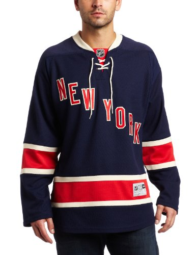 NHL New York Rangers Premier Jersey, Navy, Large