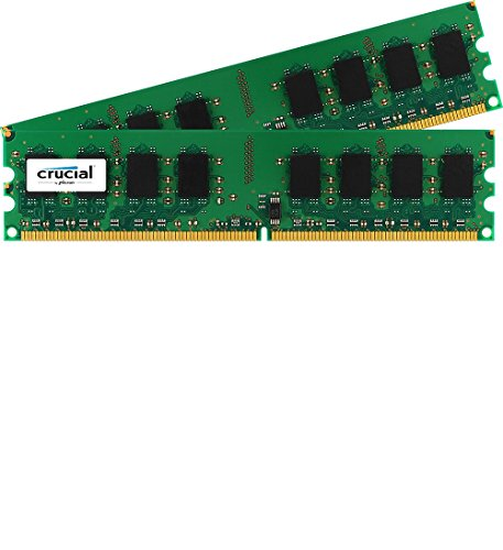 Crucial 2GB (1GBx2) DDR2-1066 (PC2-8500) Non-ECC 240-pin UDIMM Memory Module - CT2KIT12864AA1067/CT2CP12864AA1067