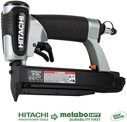 Hitachi NP35A Pin Nailer 23 Gauge, Accepts 5 8 to 1-3 8 Pin Nails, Micro Pinner with Depth Adjustment, 5 Year Warranty