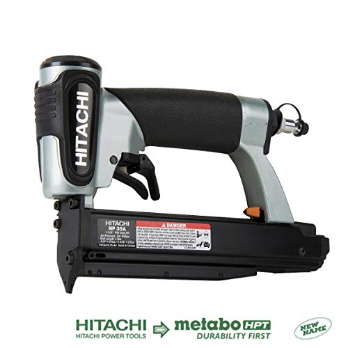 Hitachi NP35A Pin Nailer 23 Gauge, Accepts 5/8 to 1-3/8 Pin Nails, Micro Pinner with Depth Adjustment, 5 Year Warranty ()