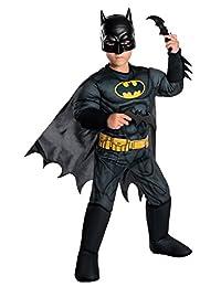 Rubie's Costume Company 630857_S Boys DC Comics Deluxe Batman Costume, Small, Multicolor