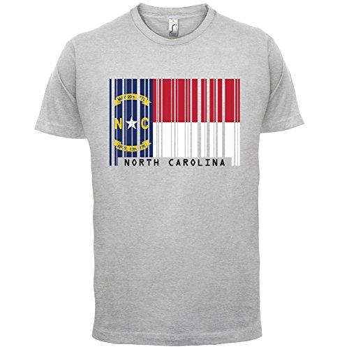 North Carolina / Nord-Carolina Barcode Flagge - Herren T-Shirt - Hellgrau -