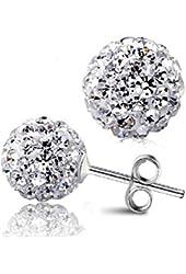 Beautiful 925 Sterling Silver Ball Stud Sterling Silver Stud Earrings 6mm Each Size By U-Beauty