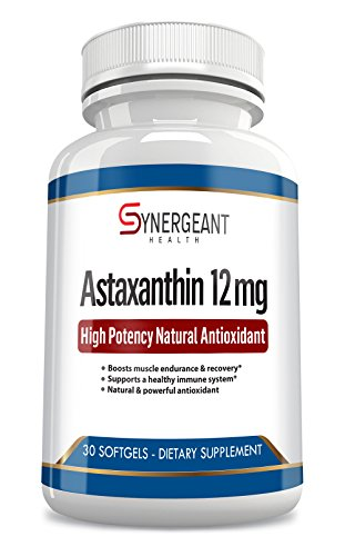 Cheap High Potency Astaxanthin 12 mg Natural Antioxidant 30 Softgels