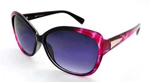 Vox tendance classique haute qualité pour femme Mode Hot Lunettes de soleil W/étui microfibre gratuit Pink Cheetah Frame - Smoke Lens