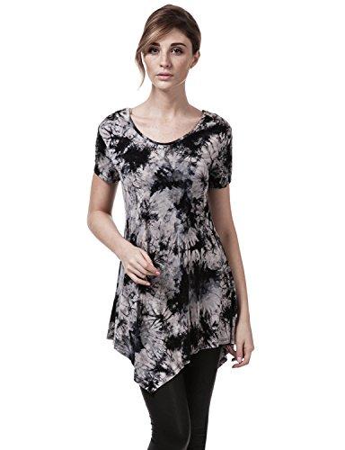 elbon-boutique-women-short-sleeve-scoop-neck-all-over-tie-dye-tunic-top-black-xxxx-large