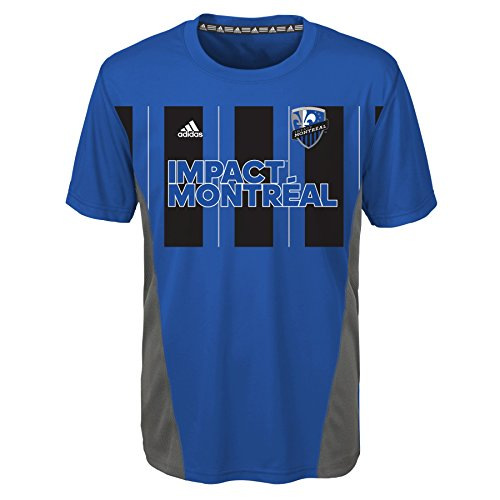 fan products of MLS Montreal Impact Boys Short Sleeve Fan Nation Tee, Blue, Small (8)