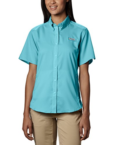 Columbia Women's Tamiami II Short Sleeve Shirt, Clear Blue, ()