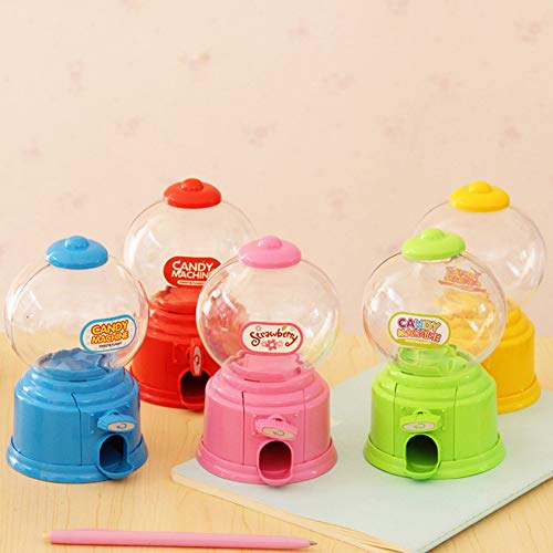 (SimpleLif Mini Cute Saving Box Coin Bank Candy Gumball Vending Machine Kid Toy)