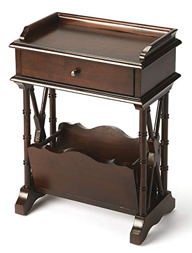 Accent Furniture - Harrowgate Magazine Rack Table - Accent Table - Cherry Finish