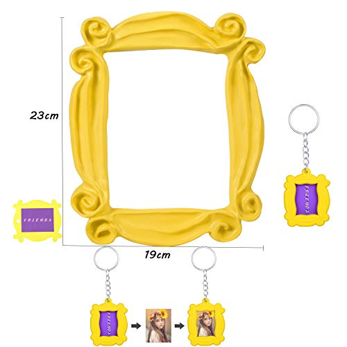 for Friends Peephole Yellow Frame. Replica of The Frame seen in Monica's Door. It has Four Side Tape. Ready to Hang. (Yellow-Frame) (Friends Picture)