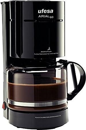 Ufesa CG7221 Arial 60, Negro, 800 W, 230 V, 230 MB/s, 50 Hz, 270 x 300 x 150 mm - Máquina de café: Amazon.es: Hogar
