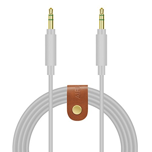 Geekria QuickFit Cable for Skullcandy Hesh 3, Hesh2, Hesh, Crusher, Grind wireless, Headphones Replacement Cable/3.5mm Male to Male Stereo Audio Cable/Headphone Audio Cord (Grey 5FT) by Geekria