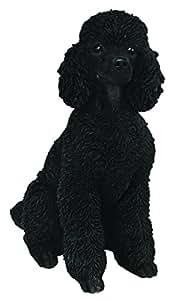 Vivid Arts XRL-PD12-B juguete negro resina perro de caniche del ornamento