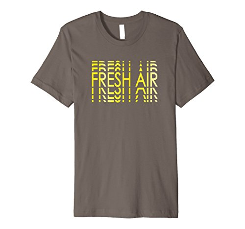 Mens Fresh Air Lines Optic Yellow Foamposites T-Shirt Large Asphalt