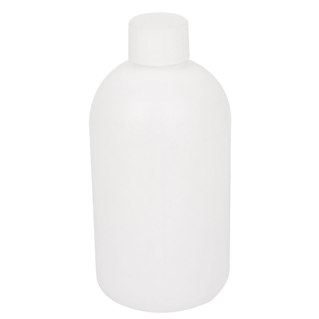 sourcingmap® Graduated 500ml Plastic Bottle HDPE White Watertight Screw-Top Lid a15050400ux0211