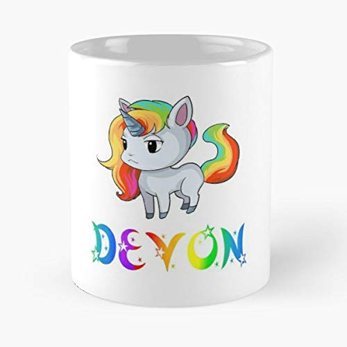 Devon Unicorn Present Gift Funny Floral Coffee Mugs Gifts