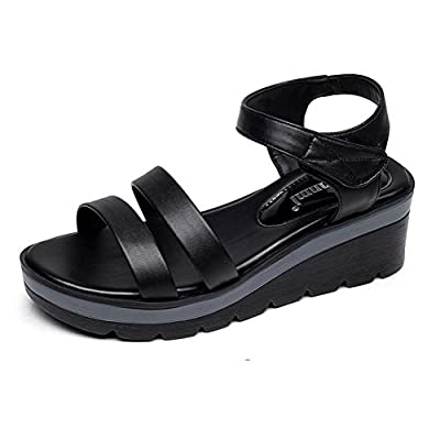 Batues Women's Leather Summer Platform Sandles Walking Sandals