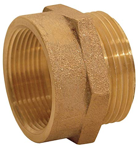 "Dixon Valve FM3030F Brass Fire Equipment, Hex Nipple, 3"" NPT Female x 3"" NST (NH) Male"