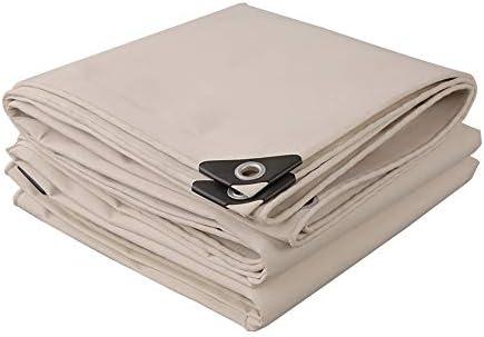 CAICOLOUR タープ 厚手防雨布ホワイトキャンバス両面防水ターポリン防塵カバー多目的500g /㎡22サイズ 防水カバー