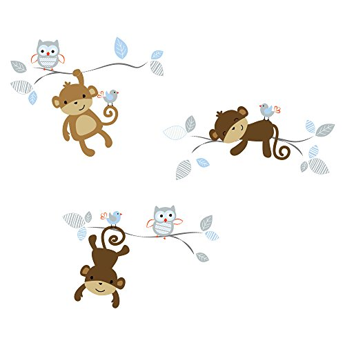 Bedtime Originals Mod Monkey Wall Appliques (Monkey Wall Decals For Nursery)