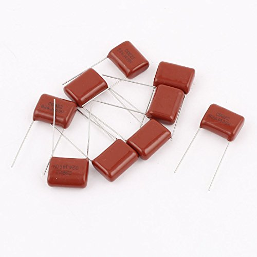 Uxcell a14101000ux0403 10 Piece 824J 400V 0.82uF Electronic Components Metallized Polyester Film Capacitor