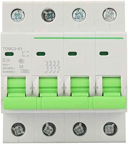ST-ST 4P 400VACサーキットブレーカ、C型サーキットブレーカ漏れ保護エアスイッチ、リーク回路ブレーカエアサーキットブレーカ(20A) 遮断器