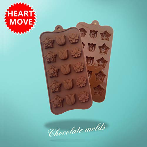 Chocolate Mold - 1 Pcs 15 Holes Tulips And Flower Shaped Sil