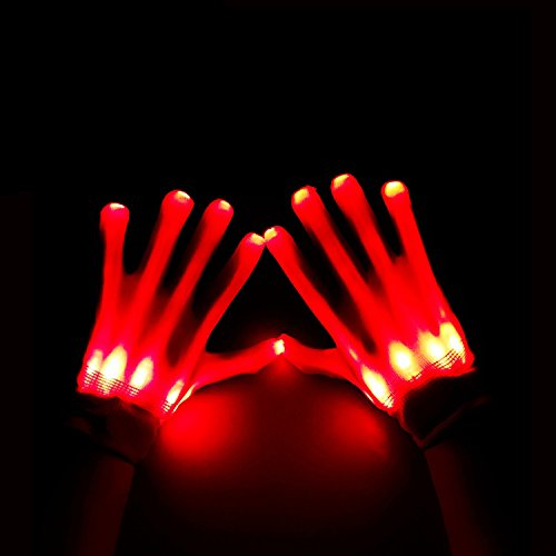 [BonAchat Light up for Raves, Glow Skeleton Gloves-The Best Gloving & Lightshow Dancing Gloves for Clubbing, Rave, Birthday, EDM, Disco, and Dubstep] (The Best Halloween Costumes Ever Made)