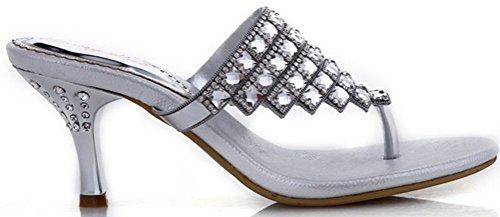 CFP - Zapatos con correa de tobillo mujer plateado