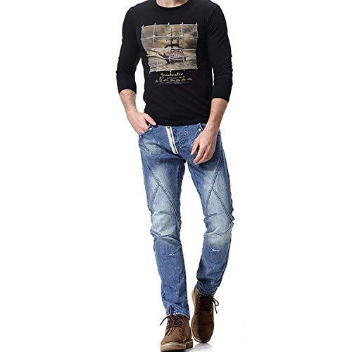 Uomo Giovane Da Stretch Con Yasminey A Eleganti Colori Lunghi Sfumati Colour Pantaloni Skinny Jeans Decorazione fqtxx8S