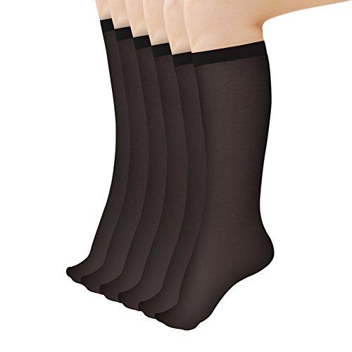 Artiff Women's Everyday Knee High Stockings 6 Pairs Hosiery …