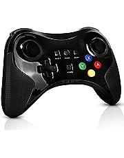 PowerLead Game controller for Wii U Pro Controller, Wireless-Controller Gamepad-Arbeit für Nintendo Wii U Wiederaufla dbarer Bluetooth-Controller Joystick Dual-Analog-Spiel (Upgrade-Version)