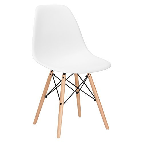 poly and bark vortex side chair in white