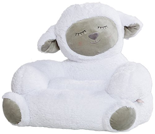 Trend Lab Children's Plush Character Chair, Lamb/White