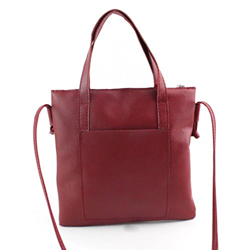 JiaMeng Bolsos de mujer Bolsos de Mujer, Bolso Bandolera Multicolor Bolso Hombro Mujer Bolso Totalizador Rojo