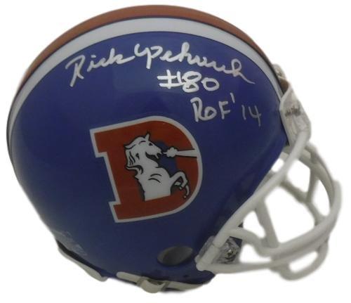 Rick Upchurch Autographed Denver Broncos Riddell Mini Helmet ROF (Pro Broncos Autographed Denver Helmet)