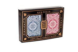 KEM Arrow Red and Blue, Poker Size-Standard Index Playing Cards (Pack of 2)