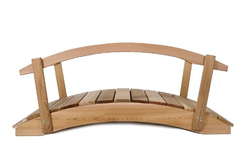 4ft. CEDAR Garden Arch Bridge with Hand Rails