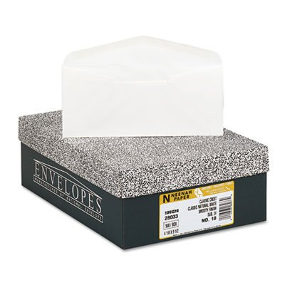 Envelopes Classic Crest Paper - Neenah Paper 2803300 Classic Crest #10 Envelope, 4 1/8 x 9 1/2, Natural White (Box of 500)
